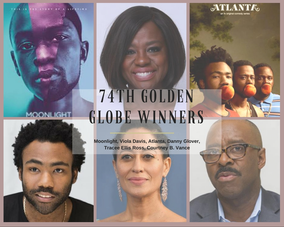 Golden Globe, Atlanta, Moonlight, Tracee Ellis Ross, Viola Davis, Childish Gambino